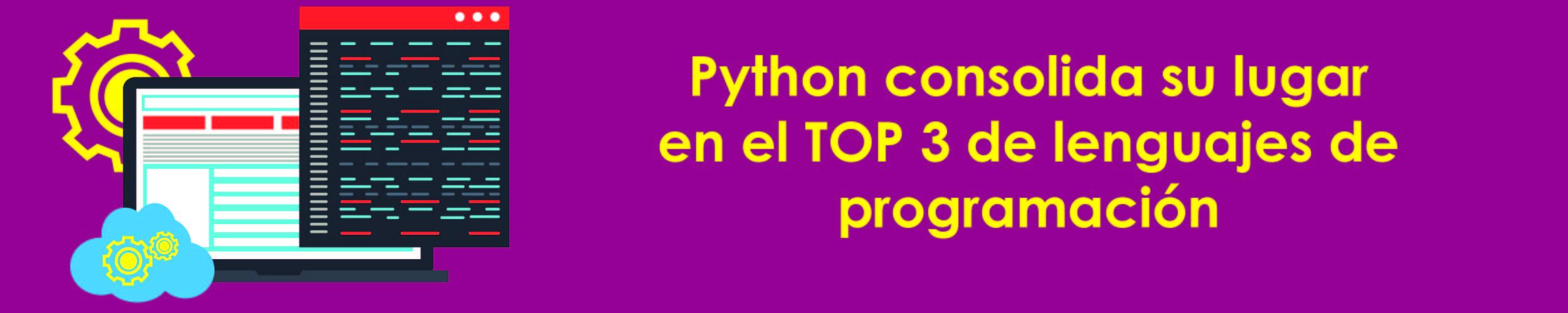 Python consolida su lugar en el top 3 de lenguajes de programación