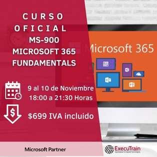 Curso MS-900 Fundamentos de Microsoft 365