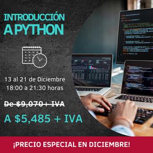 promocion python introduccion diciembre 2021